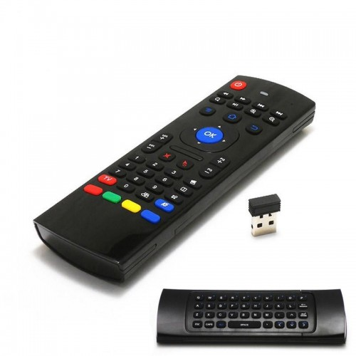 Air Fly Mouse Wireless Mini Keyboard With IR Learning Remote